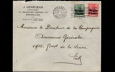 Germany Belgium Germania Overprint J Henrijean Brussells 1916 Cover 9r