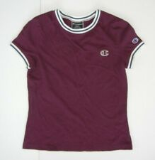 CHAMPION Maroon Red Cotton ATHLETIC T-SHIRT Running Track Gym Sz Women's SMALL