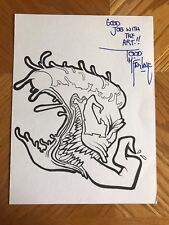 NEW LISTINGVenom Pizza FKN RAD Pin Original Design Art Signed by Todd McFarlane COA Comic Art