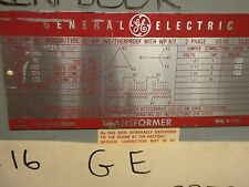 GENERAL ELECTRIC 30 KVA TRANSFORMER