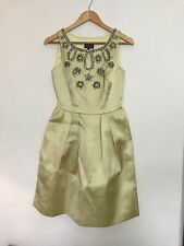 COAST Couture Yellow Satin Beaded 50s Style Dress, Bridesmaid, Prom Size 8