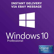 WINDOWS 10 PROFESSIONAL PRO KEY 32 / 64 BIT ACTIVATION CODE LICENSE KEY GENUINE