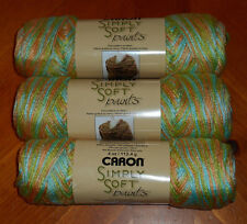 """Caron Simply Soft """"Paints"""" Yarn Lot Of 3 Skeins (Charisma #0018) 4 oz."""