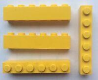 LEGO 3009 Jaune lot de 4 Brique Poutre 1x6 Brick Yellow