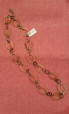 "New Silpada BY THE HORNS Necklace 36-38"" long BEAUTIFUL! Lightweigt, NWT"