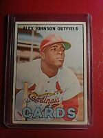 1967 Topps #108 Alex Johnson Cardinals ExMt (no creases)