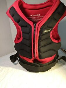 DAKINE IMPACT HARNESS Vest Kiteboarding w/partial harness Red Black Nice cond
