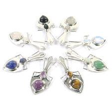 Natural Gemstone Crystal Healing Reiki CHAKRA Shield Pendant Necklace