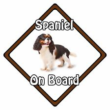 Non Personalised Dog On Board Car Safety Sign - King Charles Spaniel On Board