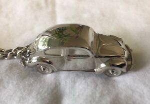 VOLKSWAGEN VW BEETLE BUG VINTAGE ANTIQUE PEWTER DIE-CAST KEY CHAIN METAL NEW