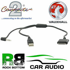 Vauxhall Opel Insignia 2008 On iPhone/iPod MP3 In Car Dock Lead Cable Interface