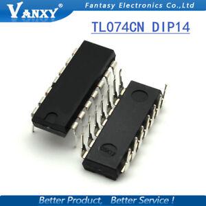 TL074 Op Amp IC (TL074CN) - DIP/DIL14 - Genuine TI - 1st CLASS POST