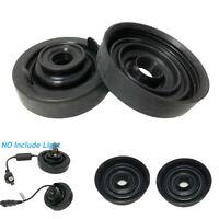 2Pcs 80mm Car Headlight Bulb Dust Cover Soft Rubber Installation Waterproof Cap