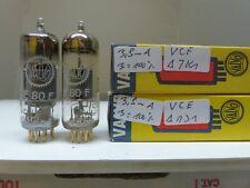 matched pair E80F Valvo VC Code NOS/NIB TESTET TUBE VALVOLA RÖHRE Rare 17