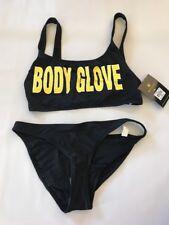 Nwt Body Glove 1989 Logo Black Wild Thing 2pc Bikini Swimsuit Sz M Kylie Jenner