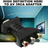 HDMI Male to 3 RCA Female Composite AV Video Audio Adapter Converter fr TV PC