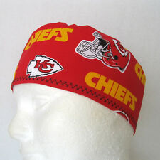 Kansas City Chiefs Mens Scrub Hat, Medical Surgical Cap, Chemo Hat, Skull Cap