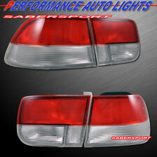 Set of 4pcs OE Style Red Clear Taillights for 1996-2000 Honda Civic 2dr Coupe