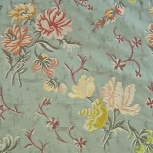 3.75 yds Lee Jofa Mansart Floral Lampas Upholstery Fabric from Italy $1162 value