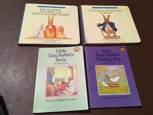 BUNDLE OF LITTLE GREY RABBIT BOOKS BY ALISON UTTLEY 1980s
