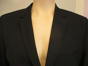 """NEW - Mens H&M Lined Tailored Suit Jacket Blazer BLACK 36"""" - 44"""" Chest RRP £40"""