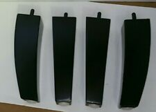 Black Wood Furniture Legs For Dresser Chair 2-1/4 x 2-1/4 x 8  Set of 4