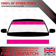 GLOSS MAGENTA WINDSCREEN SUNSTRIP 2000mm x 190mm VAN DECALS GRAPHICS STICKERS