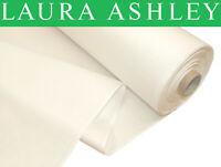 30 Meter CM Laura Ashley CM Naturweiss 100% Baumwolle Satin Vorhang Futter Stoff