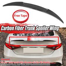 REAL Carbon Fiber Rear Trunk Spoiler Wing Lid For Alfa Romeo Giulia