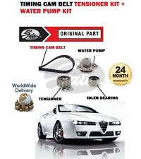 FOR ALFA ROMEO SPIDER 2.4 JTDM 2006-> TIMING CAM BELT TENSION KIT + WATER PUMP