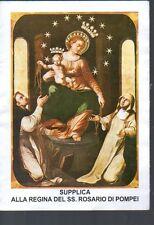501 Regina del SS. Rosario di Pompei  Santino  Holycard supplica