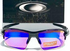 NEW* Oakley FLAK 2.0 BLACK polished PRIZM Trail Golf Road Sunglass 9188-06