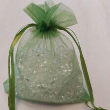 "100 Green 4 x 4.5""Organza Gift Bag Pouch Wedding Favor"
