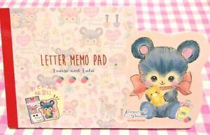 Lemon / Charming Dreamy Bear Die-cut Folding Letter Memo Pad / Japan Stationery