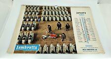 original 1961 innocenti Lambretta scooter calendar series 1 2 li sx tv mod vespa