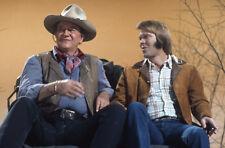 JOHN WAYNE GLEN CAMPBELL ON WAGON TV STUDIO SPECIAL ORIGINAL 35MM SLIDE