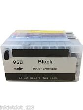 4 HP 950XL 951XL Refillable pigment ink cartridges OfficeJet Pro 8640 8600 8620