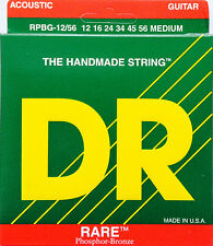 DR RPBG-12/56 Acoustic Guitar Strings RARE 12-56 gauge bluegrass