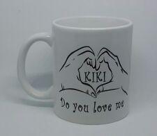 KIKI Mug Do you love me coffee mug drake viral music heart hand gesture riding..