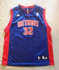 DETROIT PISTONS # 32 HAMILTON NBA BASKETBALL JERSEY BY ADIDAS  YOUTH LARGE 14-16