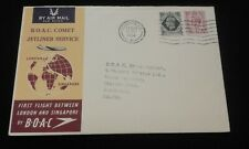 Comet 1 FDC London to Singapore