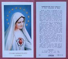 Santino Holy Card: Cuore Immacolato di Maria - Ed. EGIM 298