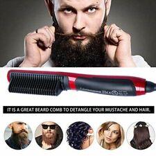 Unsex Rapide Chauffé Barbe Lisseur Brosse Cheveux Raides Styler Cheveux Peigne Boucle