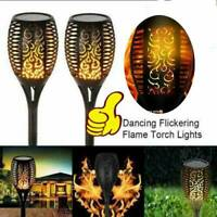New LED Solar Lights Outdoor Waterproof Flickering Flame Garden Light Path