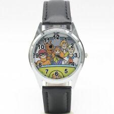 Reloj de Pulsera dibujos Animados Película TV Scooby Doo Shaggy Banda de Cuero Analógico Cuarzo Negro