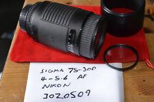 Used Sigma AF 75-300MM F4-5.6 DL Zoom Lens, Nikon AF Mount - DAMAGED, FUNGUS