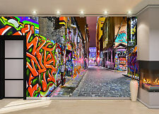 Night view -Graffiti Artwork Wall Mural Photo Wallpaper GIANT DECOR Paper Poster