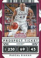 Pascal Siakam 2020-21 Contenders Draft Picks Prospect Ticket Variation Card #17