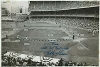 "Bobby Thomson Autographed Action Photo.  Associated Press Photo 10"" X 6.5"""