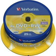 Dvd RW 4.7 4x lata 25 Verbatim